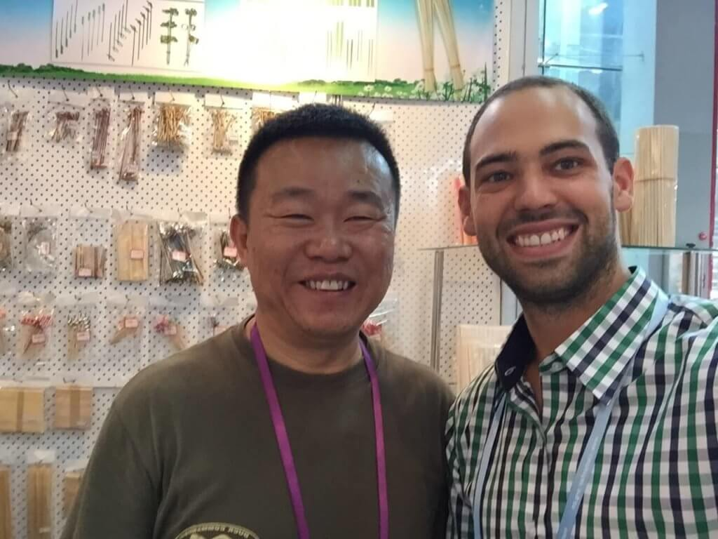 Canton Fair: Greg and Supplier rep