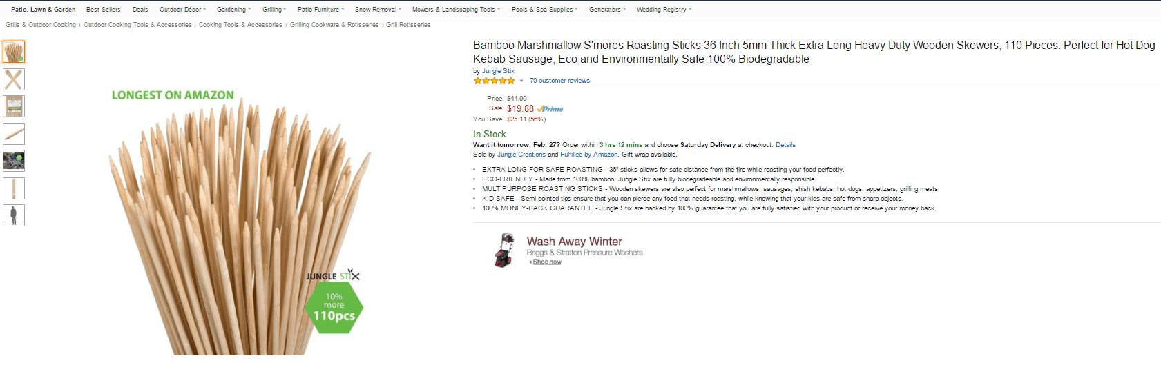 jungle stix listing