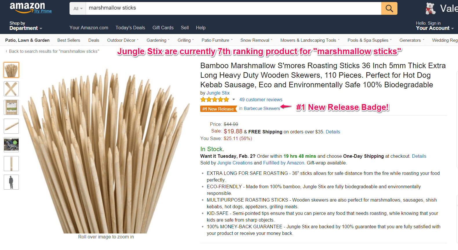 jungle stix listing