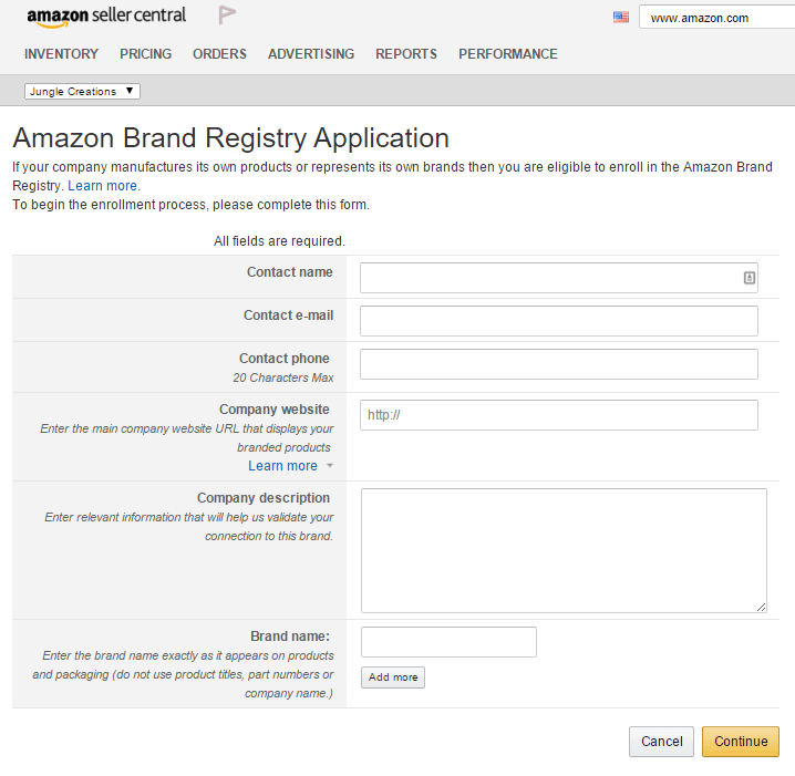 Amazon hijackers: amz-brand-registry