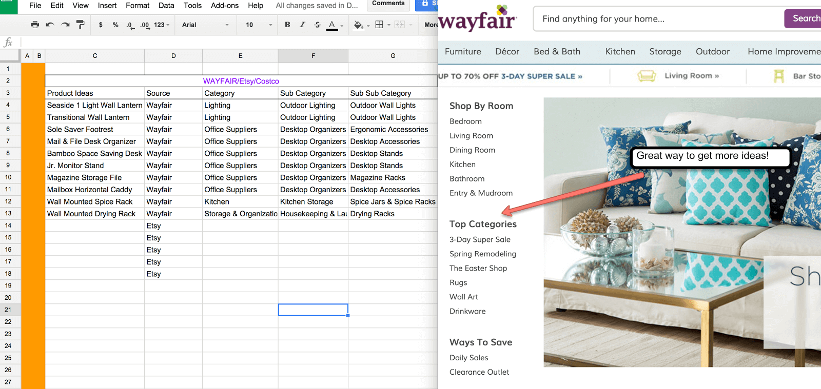 finding products on wayfair 9