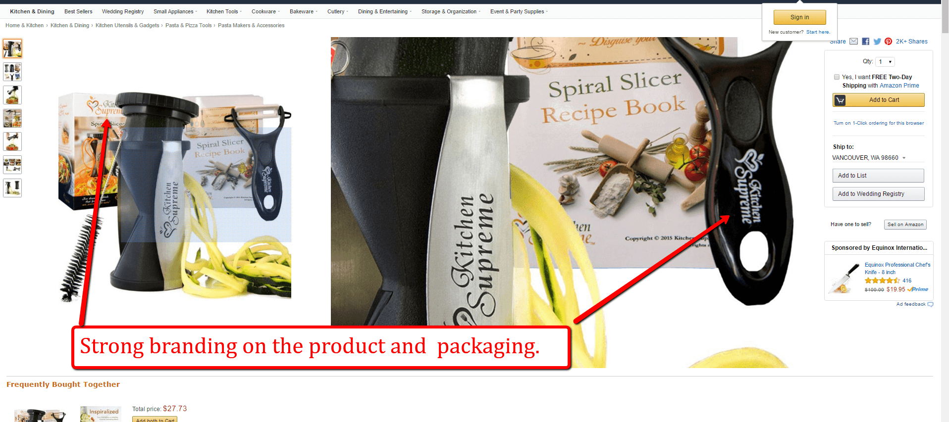 strong branded product
