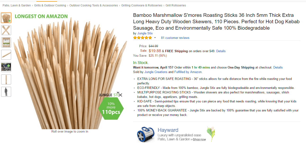 jungle stix product on amazon