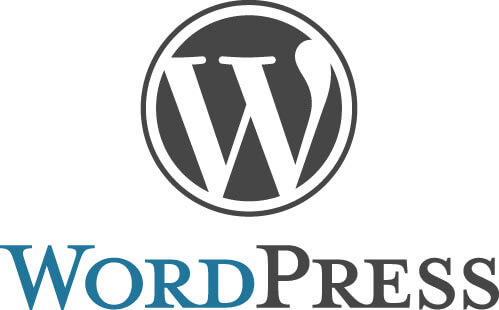 wordpress logo - blogging platform with ecommerce plugins