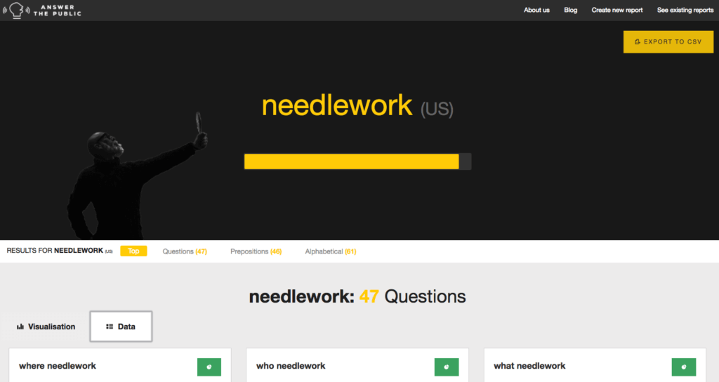 answer the public needlework search