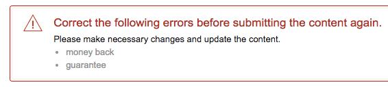 enhanced brand content errors