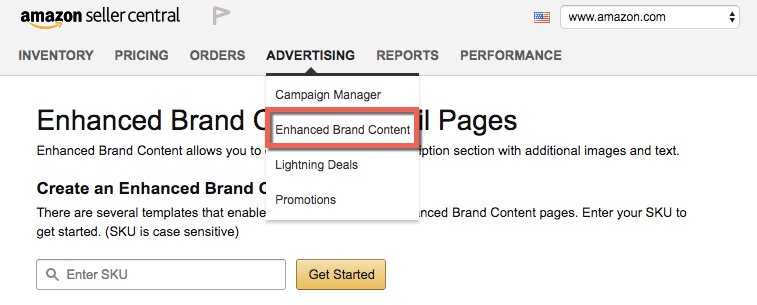 amazon enhanced brand content in seller central
