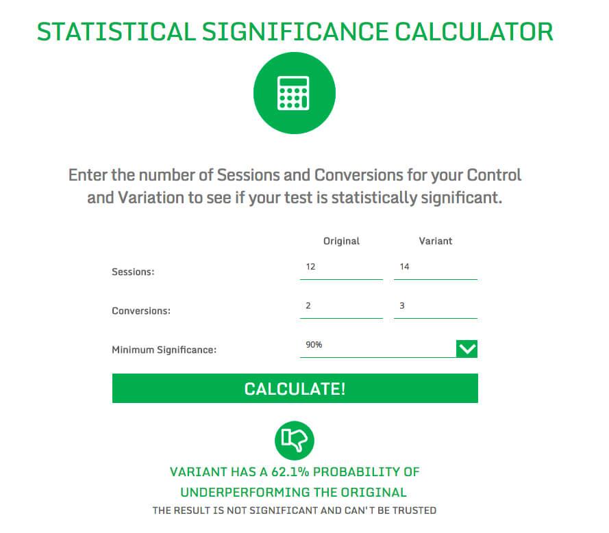Statistical Significance Calculator