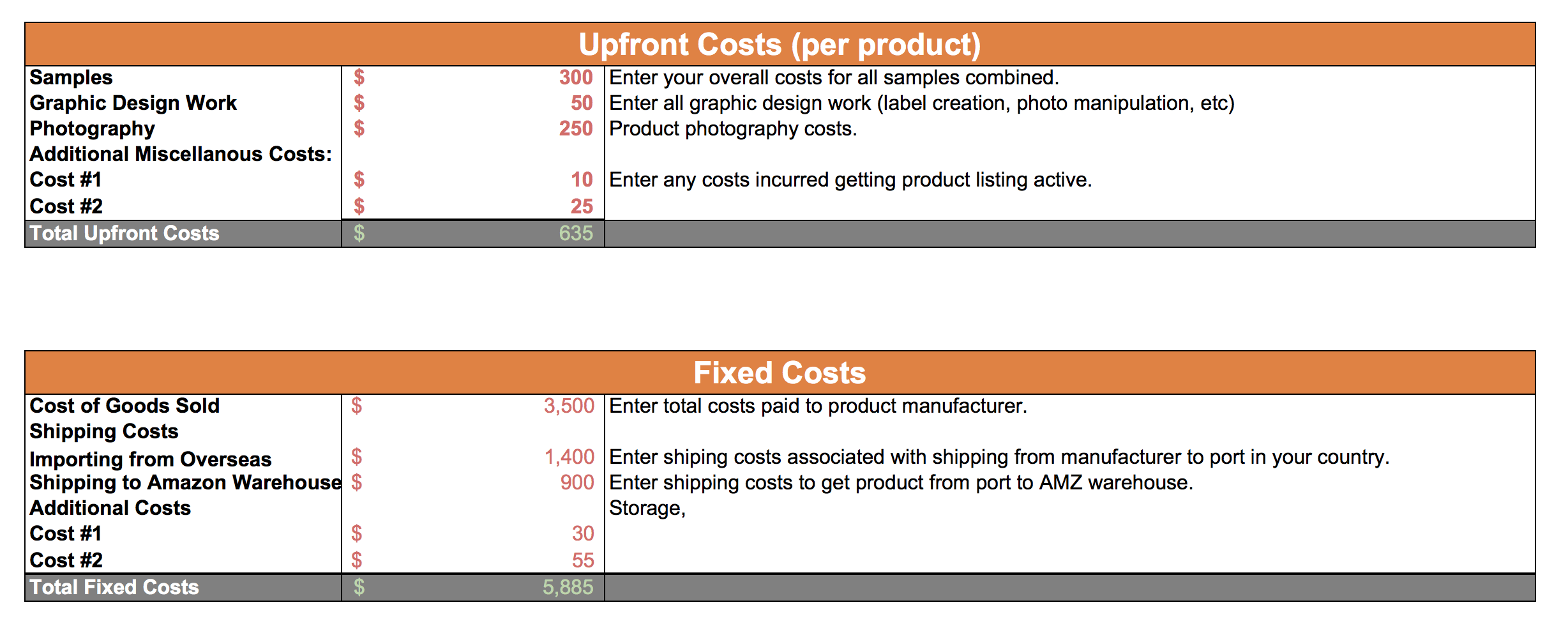 are amazon s shipping costs variable or fixed