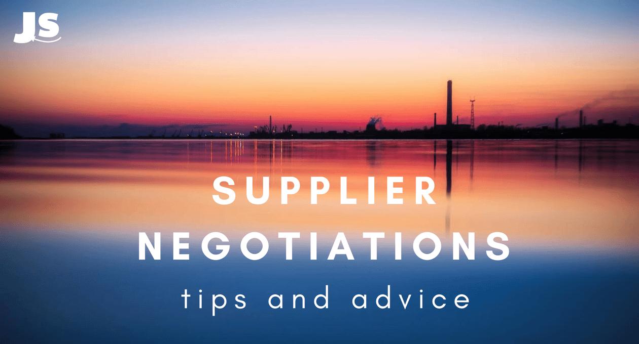 supplier negotiations