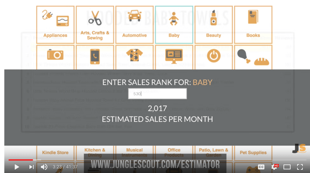 Jungle Scout Free Sales Estimator Tool