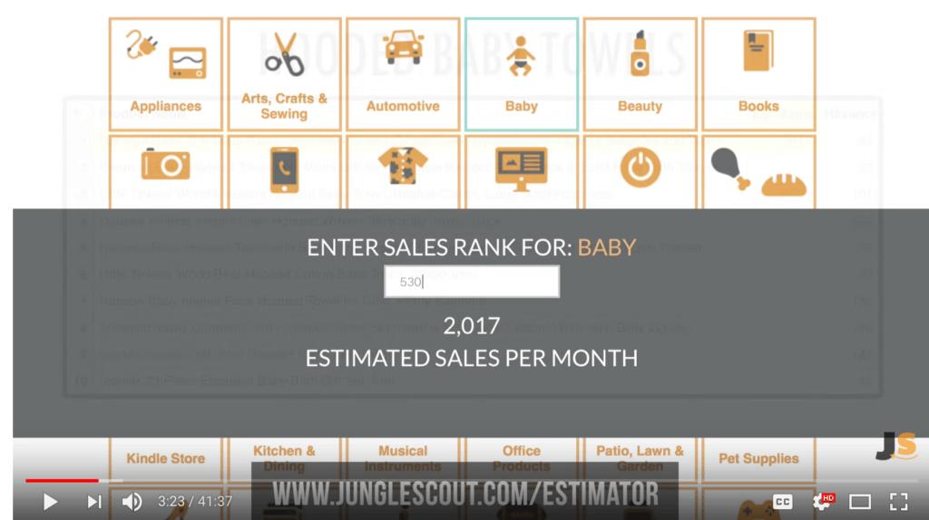 Jungle Scout Free Sales Estimator Tool