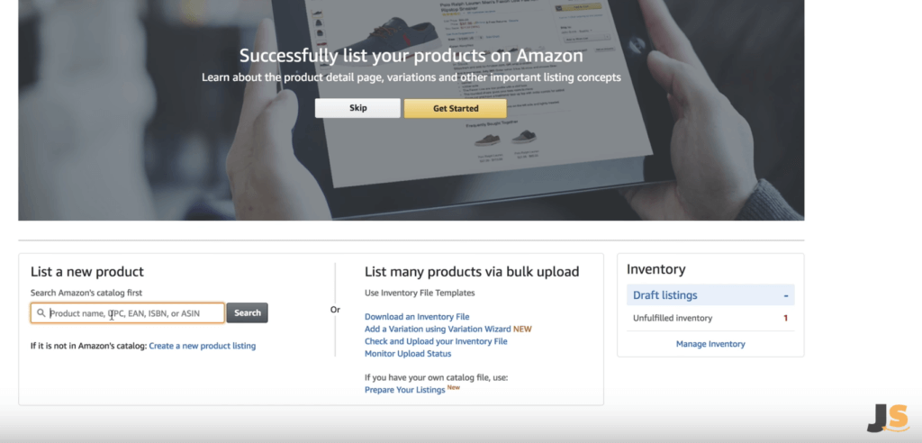 Add a new product listing to Amazon