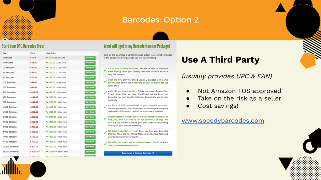 Third party barcodes