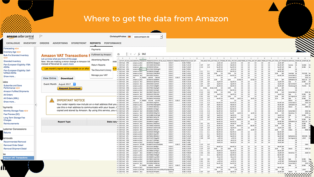 VAT reports from Amazon