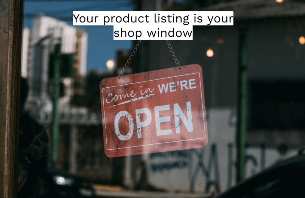 amazon product listing shop window