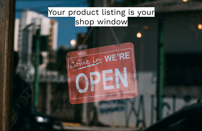 amazon product listing shop window