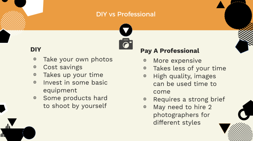 DIY photography vs hiring a professional
