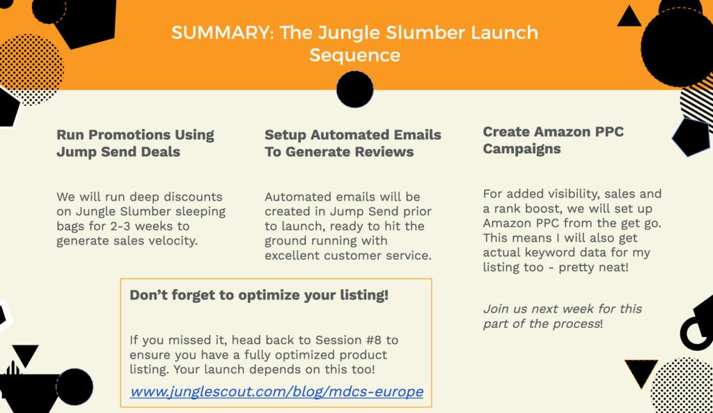Jungle Slumber launch strategy