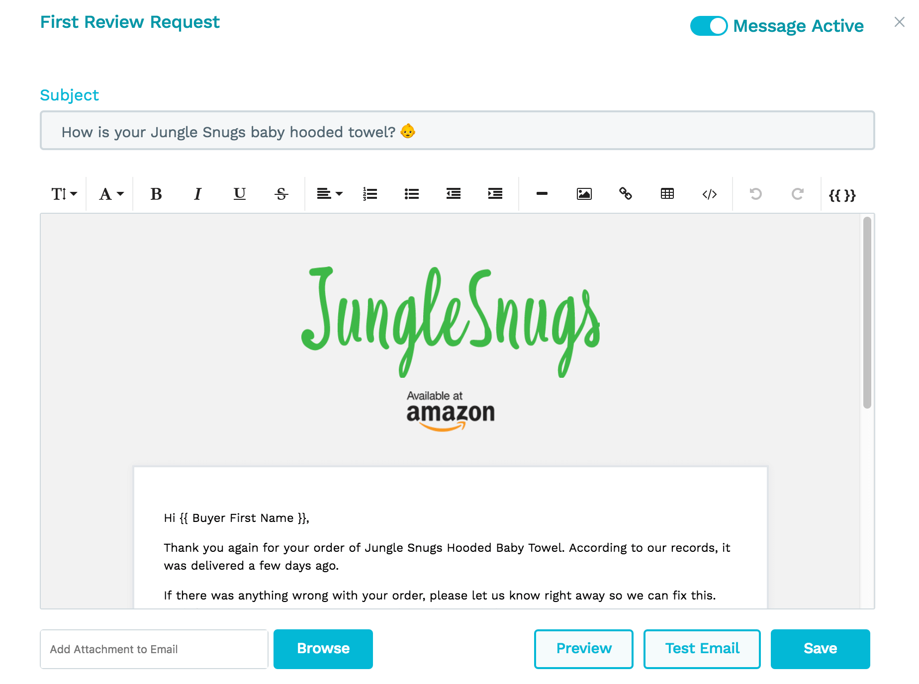 Jump Send Email Builder