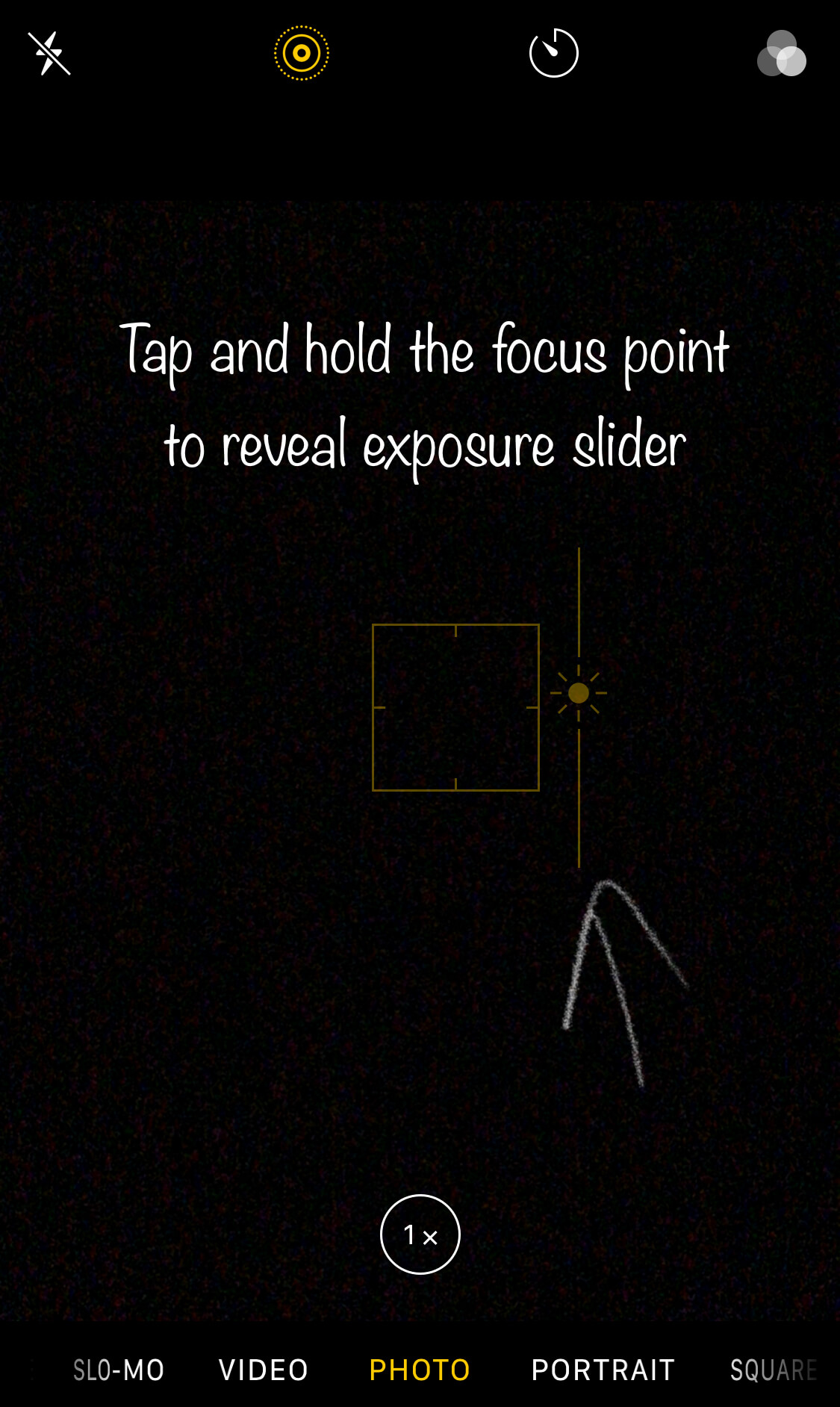 Exposure slider