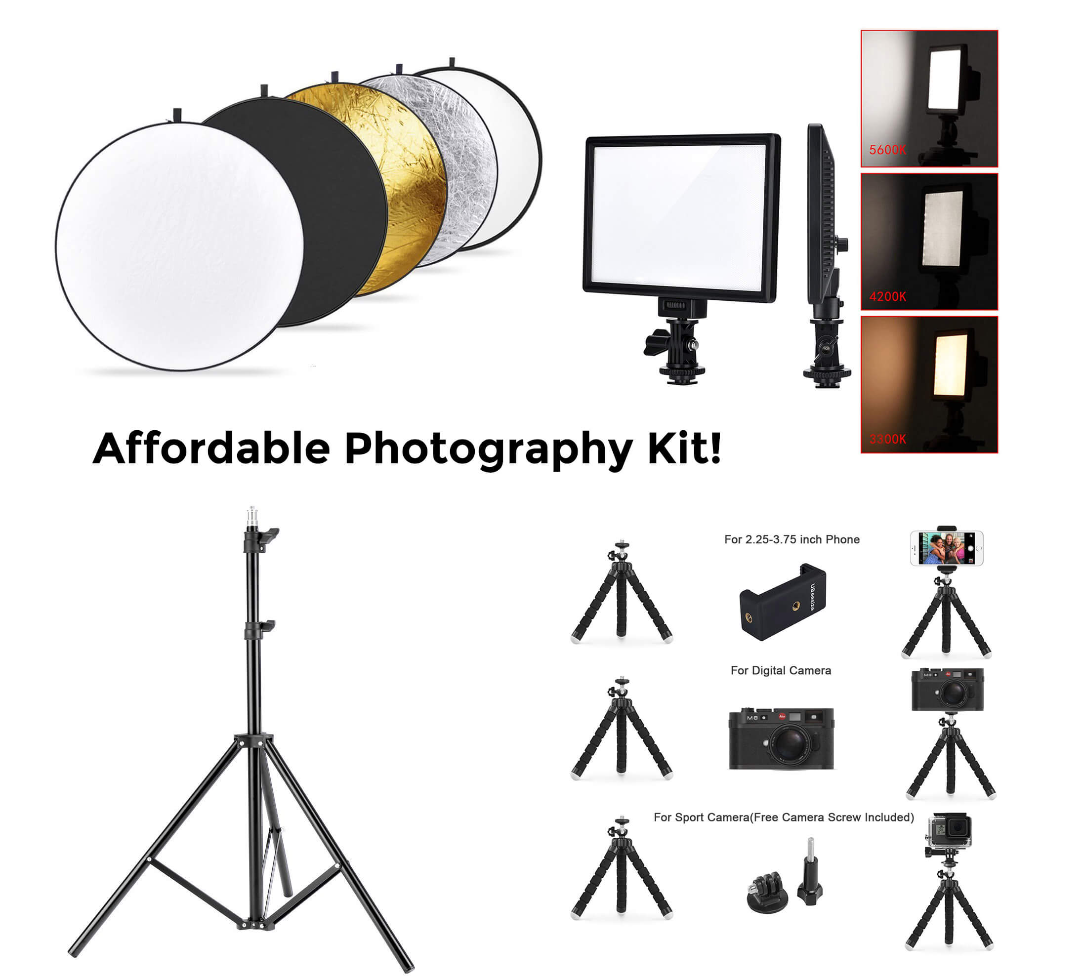 Affordable photography kit