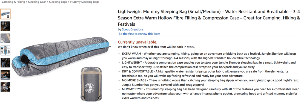 Jungle Slumber product listing
