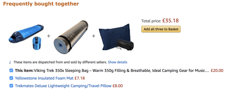 Frequently bought together on Amazon