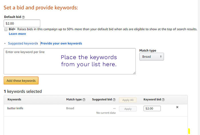 How to create a manual campaign for Amazon PPC