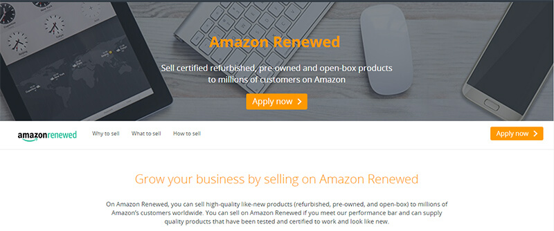 Amazon Renewed Homepage
