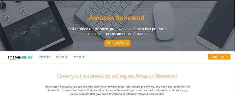 Amazon Renewed Homepage