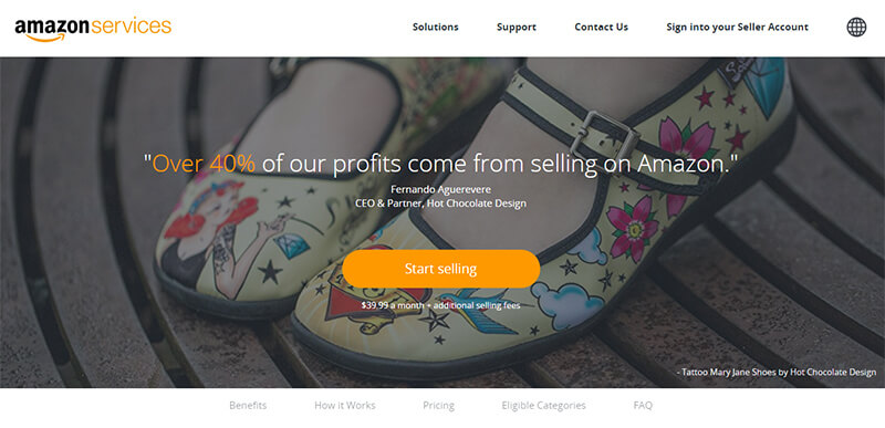 Enregistrement du vendeur Amazon