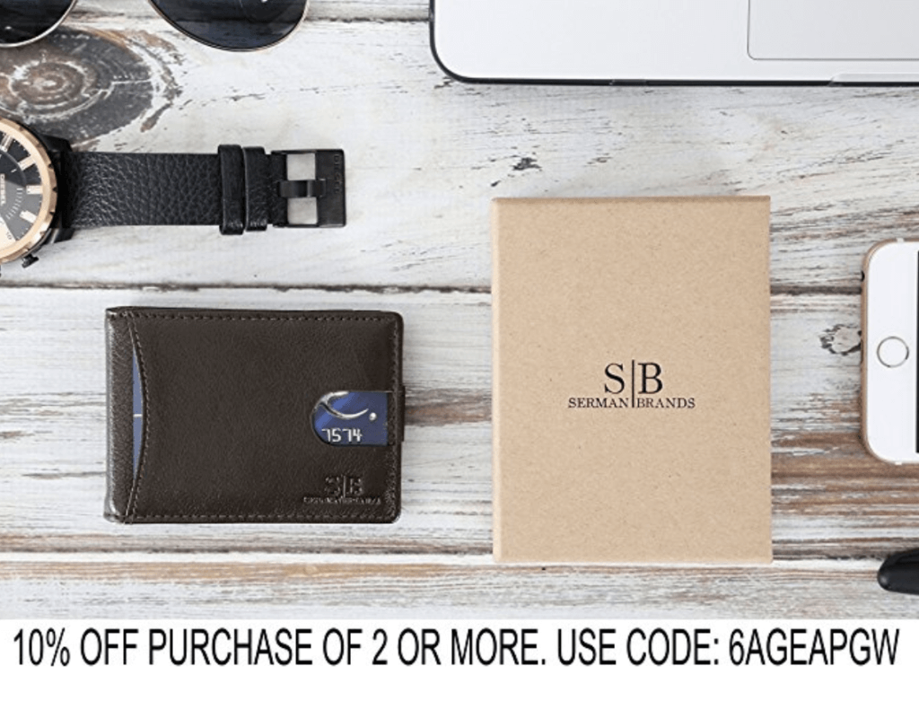 Examples of Amazon product photography: wallet
