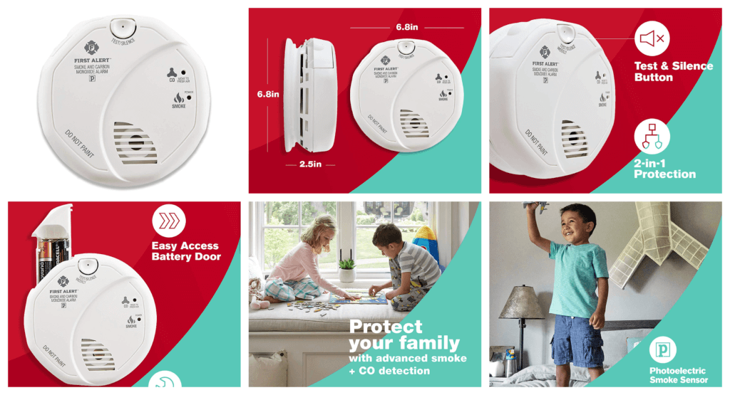 First Alert SCO5CN Combination Smoke and Carbon Monoxide Detector