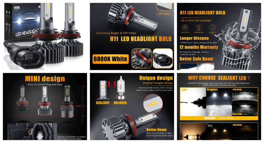 H11_H8_H9 LED Headlight Bulbs Conversion Kit