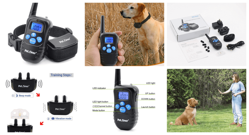 Petrainer PET998DRB1 Dog Training Collar Rechargeable