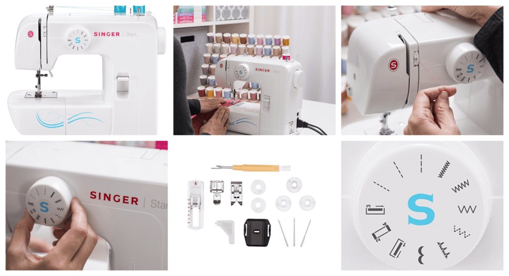 SINGER _ Start 1304 Sewing Machine with 6 Built-in Stitches, Free Arm Sewing Machine - Best Sewing Machine for Beginners