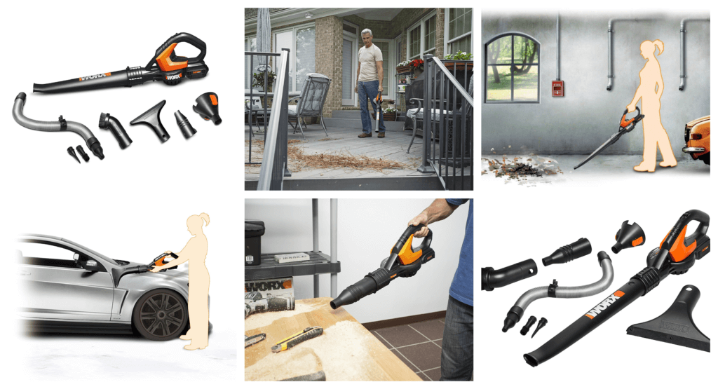 Worx WG575.1 AIR 32V Cordless Battery-Powered Leaf Blower_Sweeper