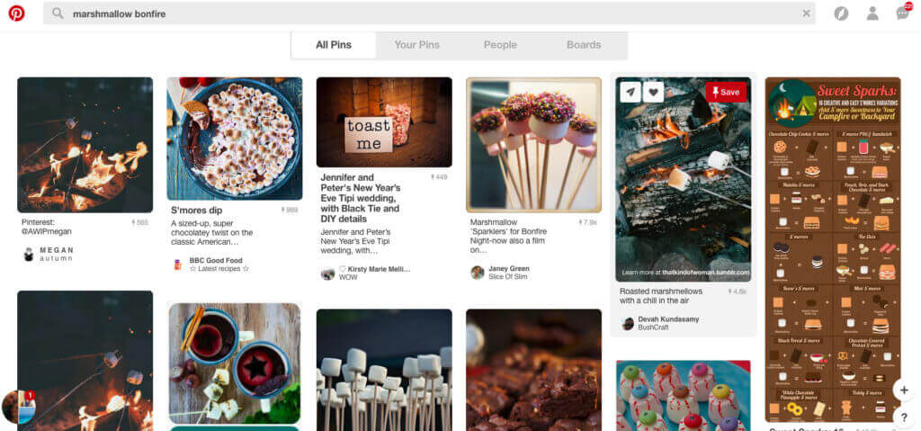 Pinterest results for bonfire as examples for Amazon email attachments