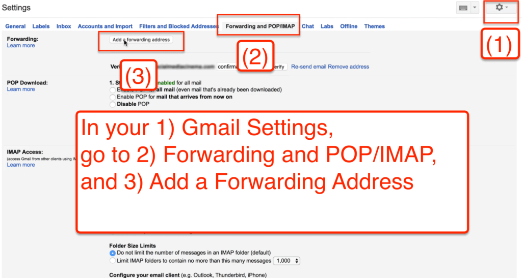 amazon email blacklist: Setting up email forwarding in gmail