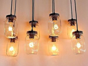 Image of mason jars as lights; man example of an Amazon email attachment