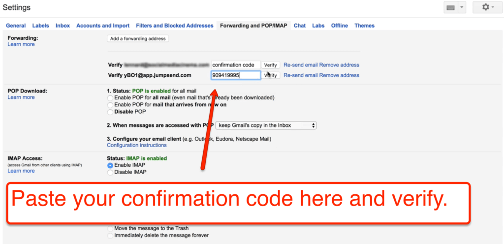 verify confirmation code