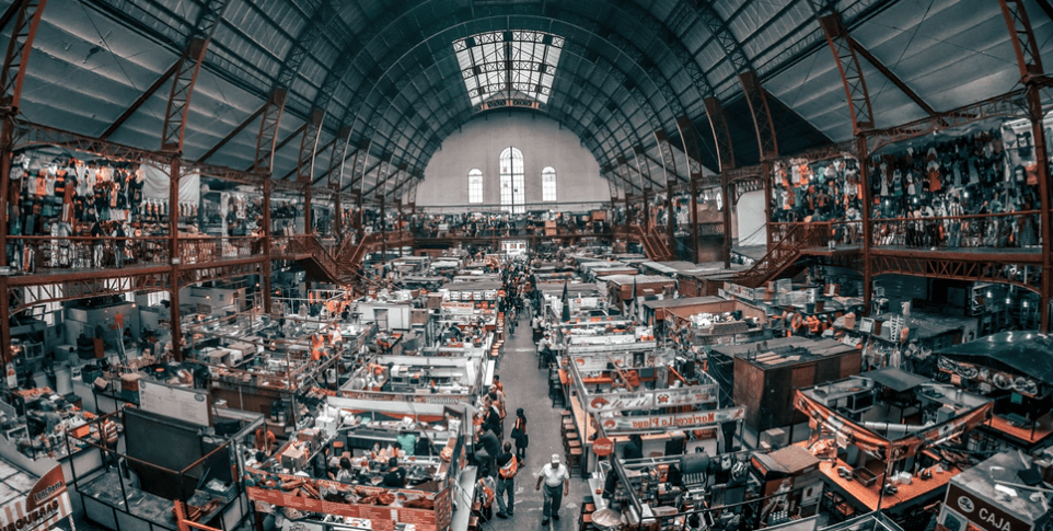 Guanajuato market that sells crafts and foods