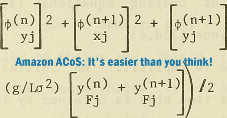Explaining Amazon ACoS