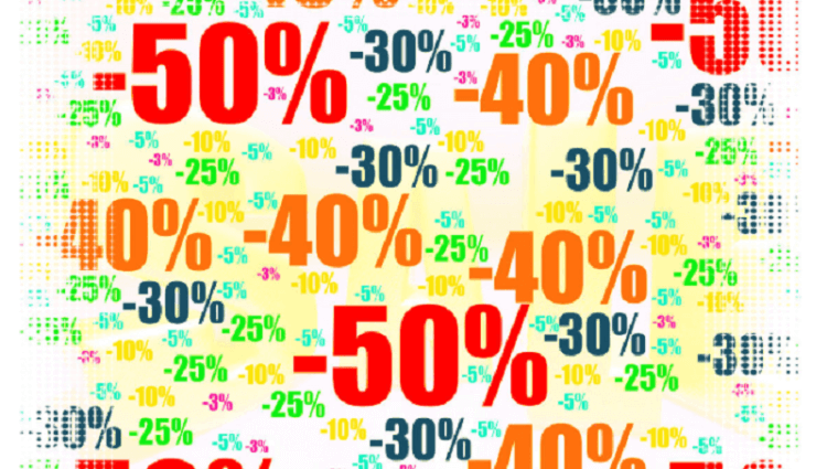 Amazon product promotions: discount percentages