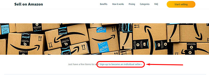 How to sell on Amazon: creating an account