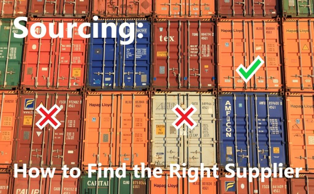 Shipping containers representing how to find the right supplier