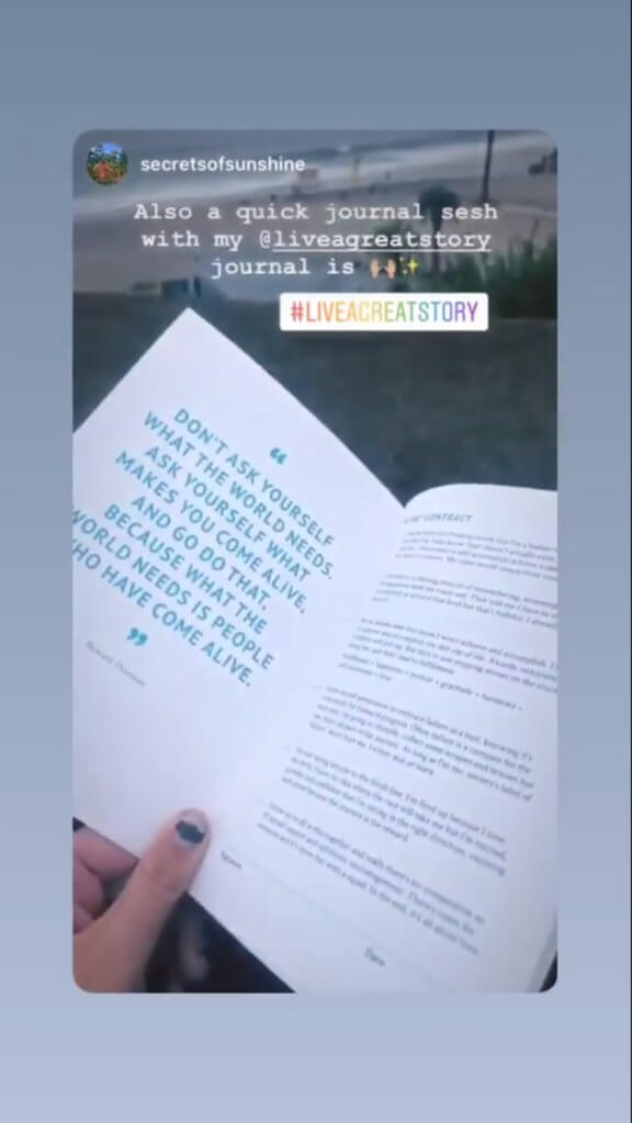 Live a Great Story: journal