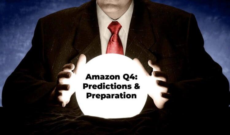 Amazon Q4: man's hands above a cyrstal ball