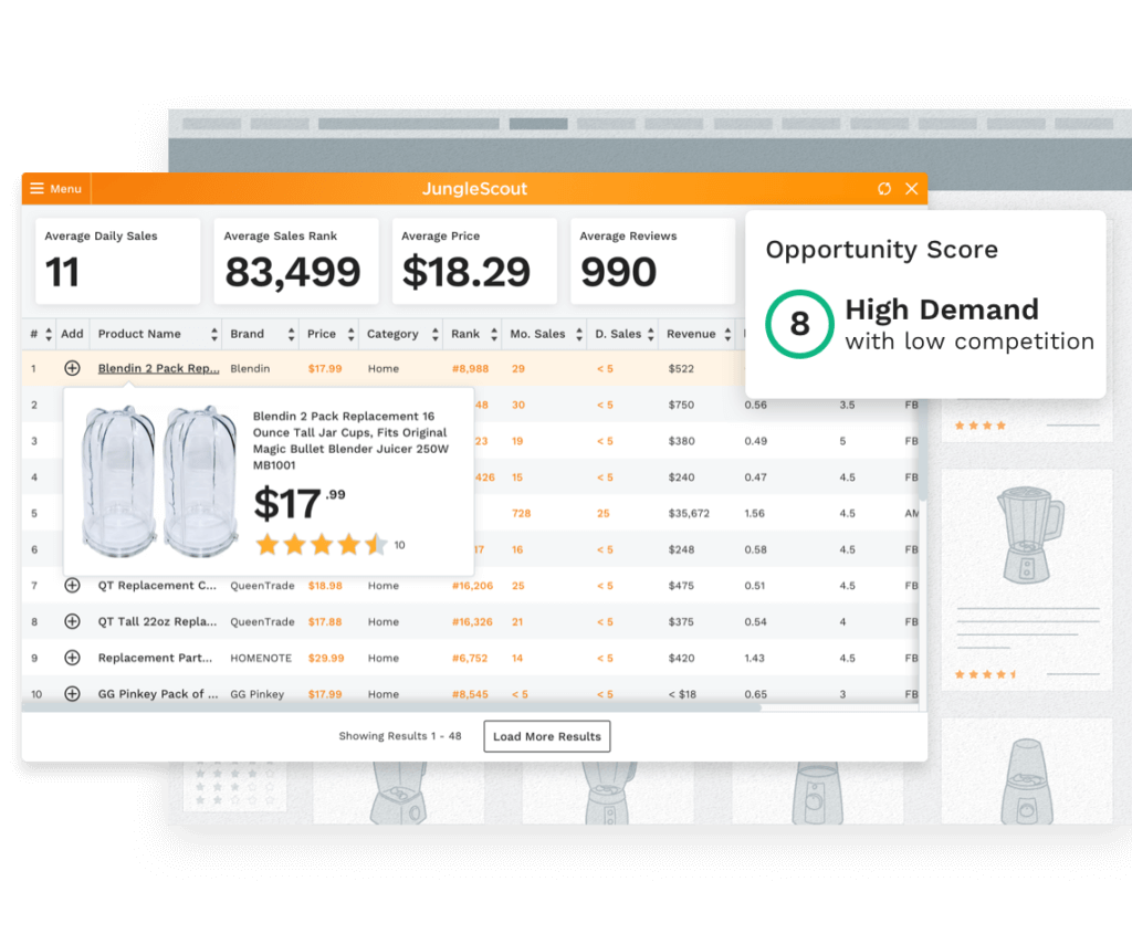 Jungle Scout Chrome Extension - Amazon Product Research & Seller ...